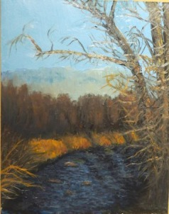 Cottonwood Creek, east of the Bridge 11x14.jpg